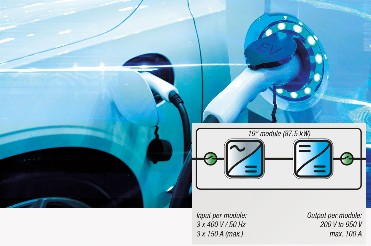 Highly efficient, fast-charging module for electric vehicles
