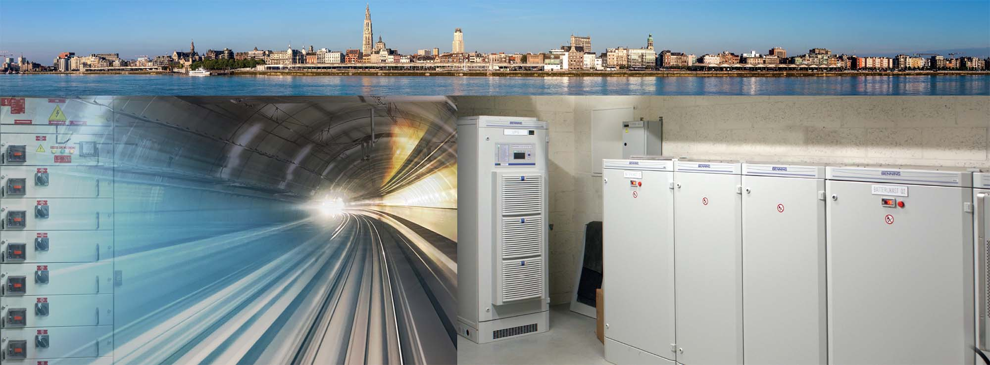 "The ENERTRONIC modular SE, 40 kW and battery cabinets placed at ""Ghost station"" Foorplein"
