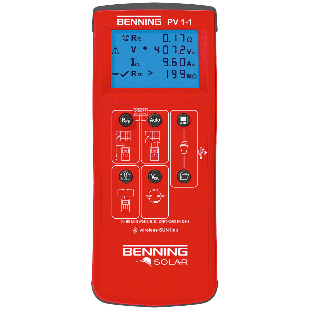 Photovoltaic Tester Benning Pv 1 Wireless Mains Voltage