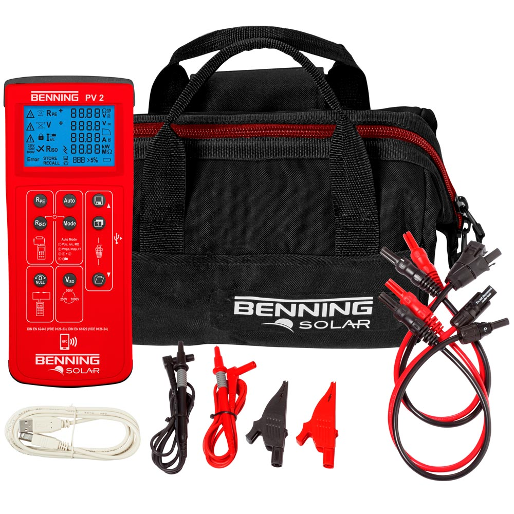 Benning Pv 2 Wire Cable Tester Together With Circuit Moreover Diagram Scope Of Delivery The
